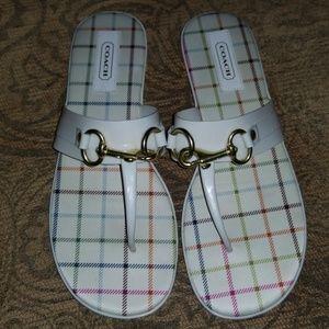 White Coach Sandals